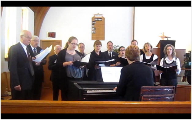 Church Choir Singing On Good Friday Services In 2012
