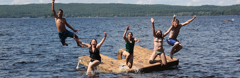 2010 Camp Lutherlyn -jumping off floating dock