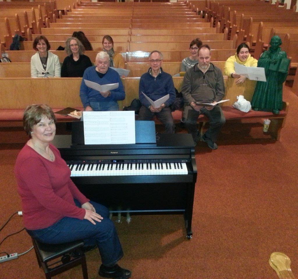 Choir Practice In 2015 With Linda Marcinkus, Director