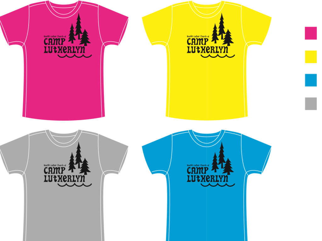 MLC At Camp Lutherlyn Tshirt Colours