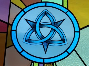 10. Trinity: One God and the three persons of the divinity, Father Son, and Holy Spirit. Symbol: Trinity, interwoven lines with no endings. Flower: Lily = Purity