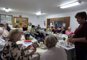 Senior's group meeting in church basement in May 2015