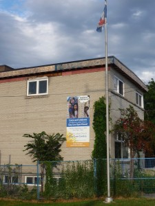 Daycare with 2015 Re-opening banner