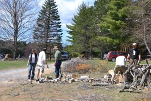 Clean up at Camp Lutherlyn