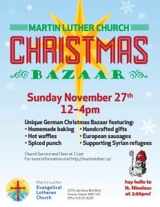 2016 Christmas Bazaar- poster
