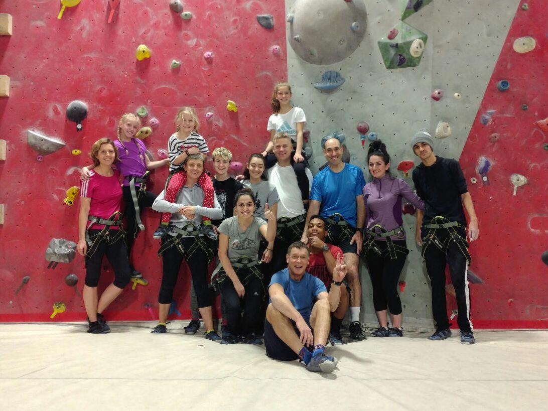 Syrian Family Rock Climbing 2016