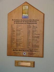 2009 WIndows donation plaque