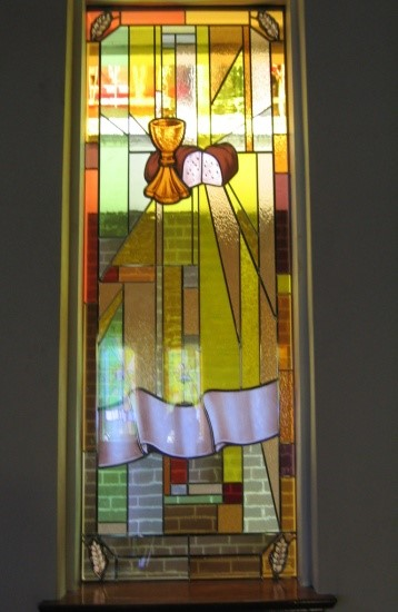 Bread And WIne Stained Glass Window