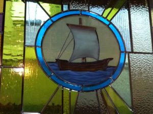 19. The Church — Community of Believers — The 'ship' congregation; Symbol: Sailboat. Corner: Whale