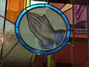 20. The Church — Community of Believers — Prayer; Symbol: Praying Hands. Corner: Serpent, symbol of temptation