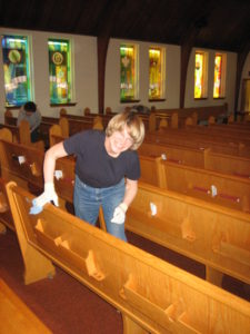 Spring Cleaning at church April 2006