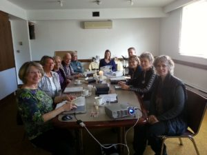 Visiting Ministry Team meeting on Mar 2017 in the back room