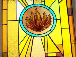 9. Pentecost: God gives his Holy Spirit, Acts 2, Symbol: Fire. Flower: Columbine (Akelei) = Symbolic Flower for the Holy Spirit