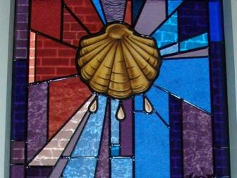13. God's Word — Symbol: Shell, As A Symbol For Mission, The Spreading The Word Of God. Corner: Light