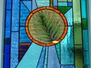 15. Christ — Son of God - Christ's victory — Jesus enters Jerusalem; Symbol: Palm Branch, Corner: Crown