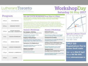 Toronto Lutheran Workshop Day 2017 poster