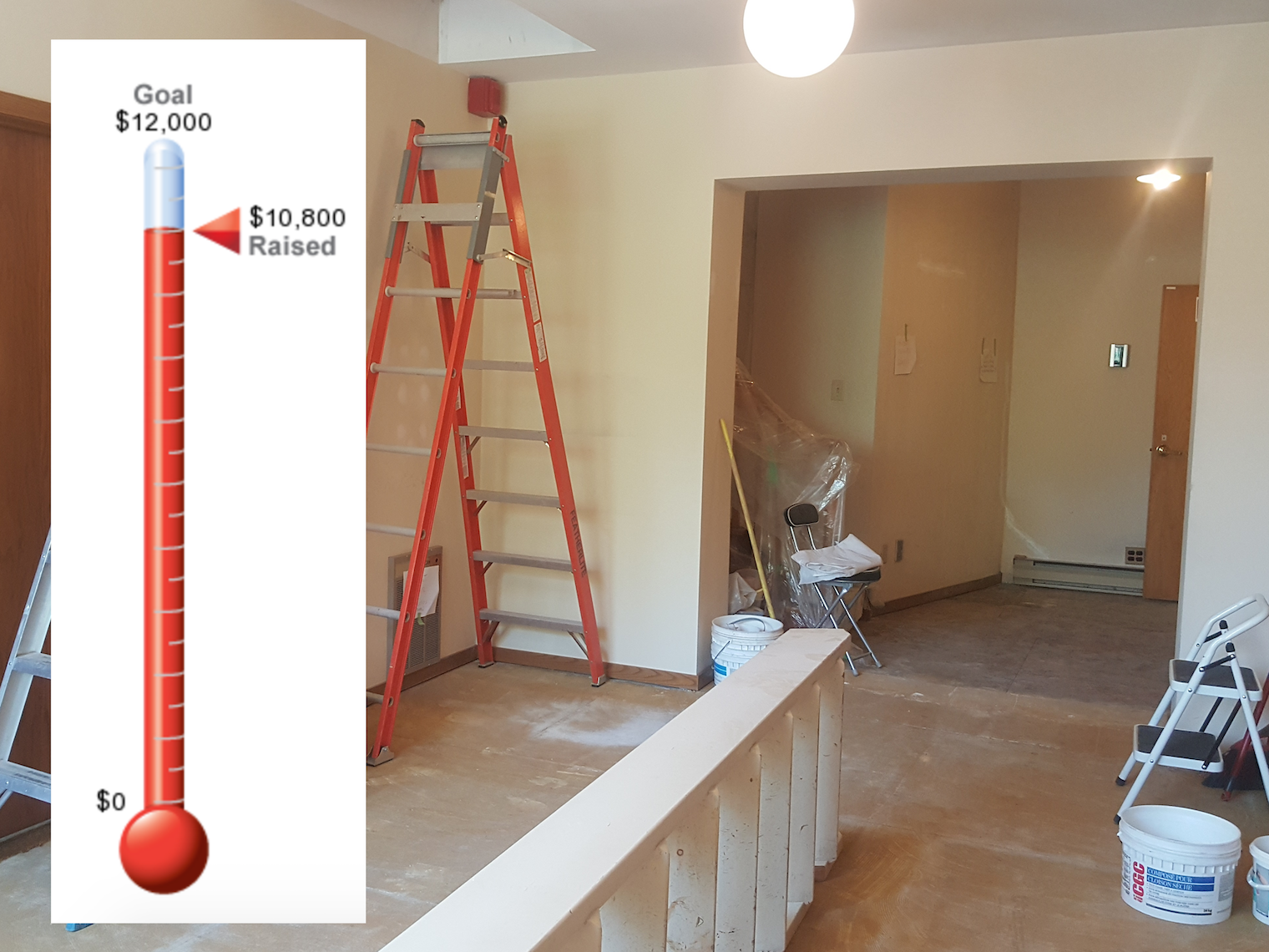 Fundraising Update For The Back Of Church Renovation