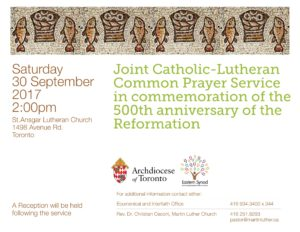 Common Prayer Service Poster