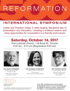 Reformation Intl Symposium(FirstLutheranChurch-Oct14-2017)