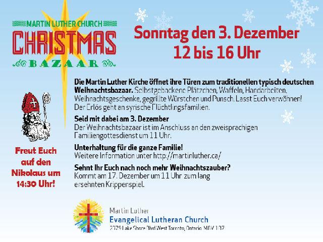 2017 Christmas Bazaar Postcard German