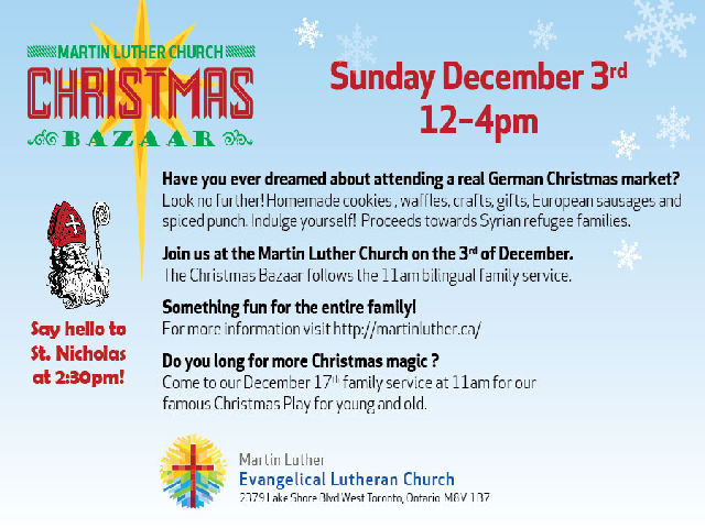 "Find ""Lutherans By The Lake"" And More At Our Christmas Market"