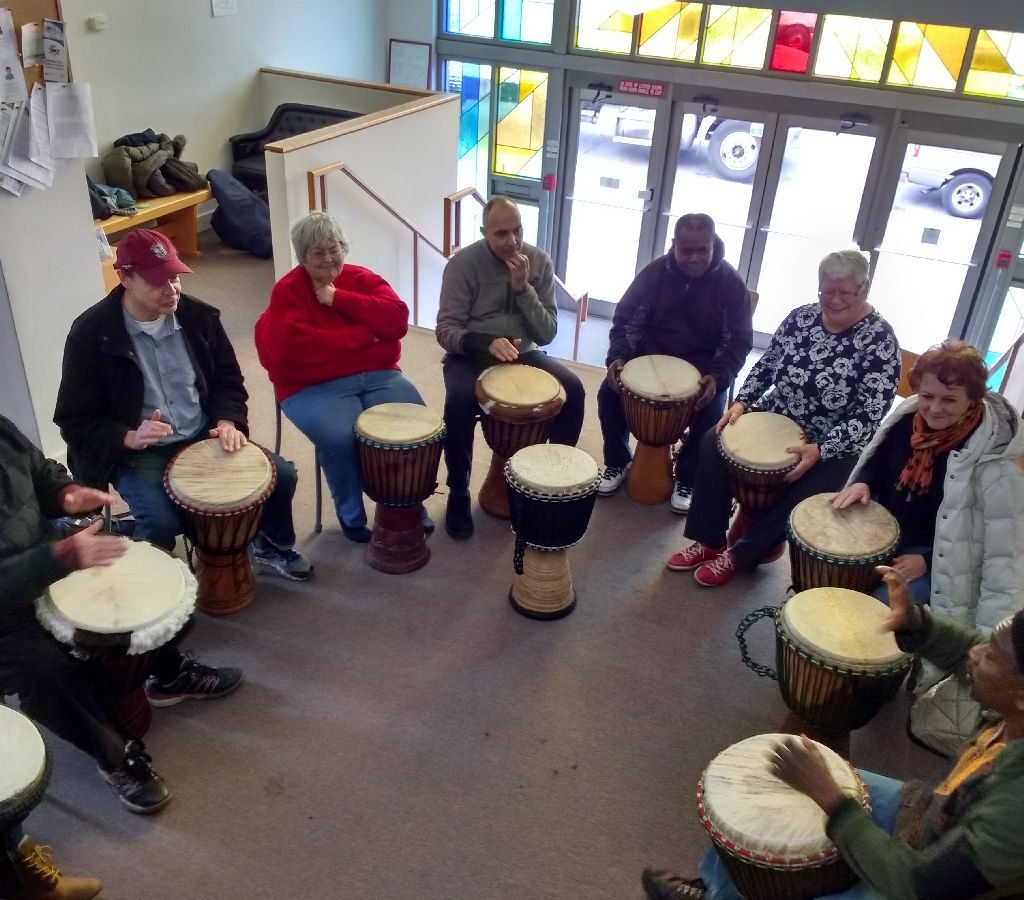 2017 Drum Circle In The Church Foyer