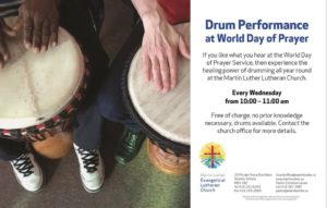 2018 Drumming Wednesdays 10-11am