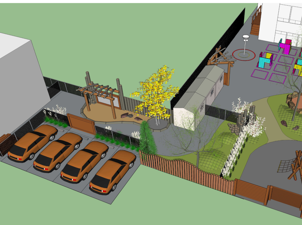 New Parking Spots And Play Areas In The Backyard