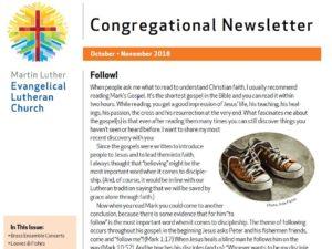Oct-Nov 2018 Congregational Newsletter