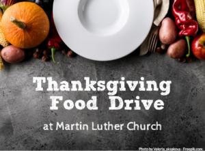 Thanksgiving Food Drive At MLC