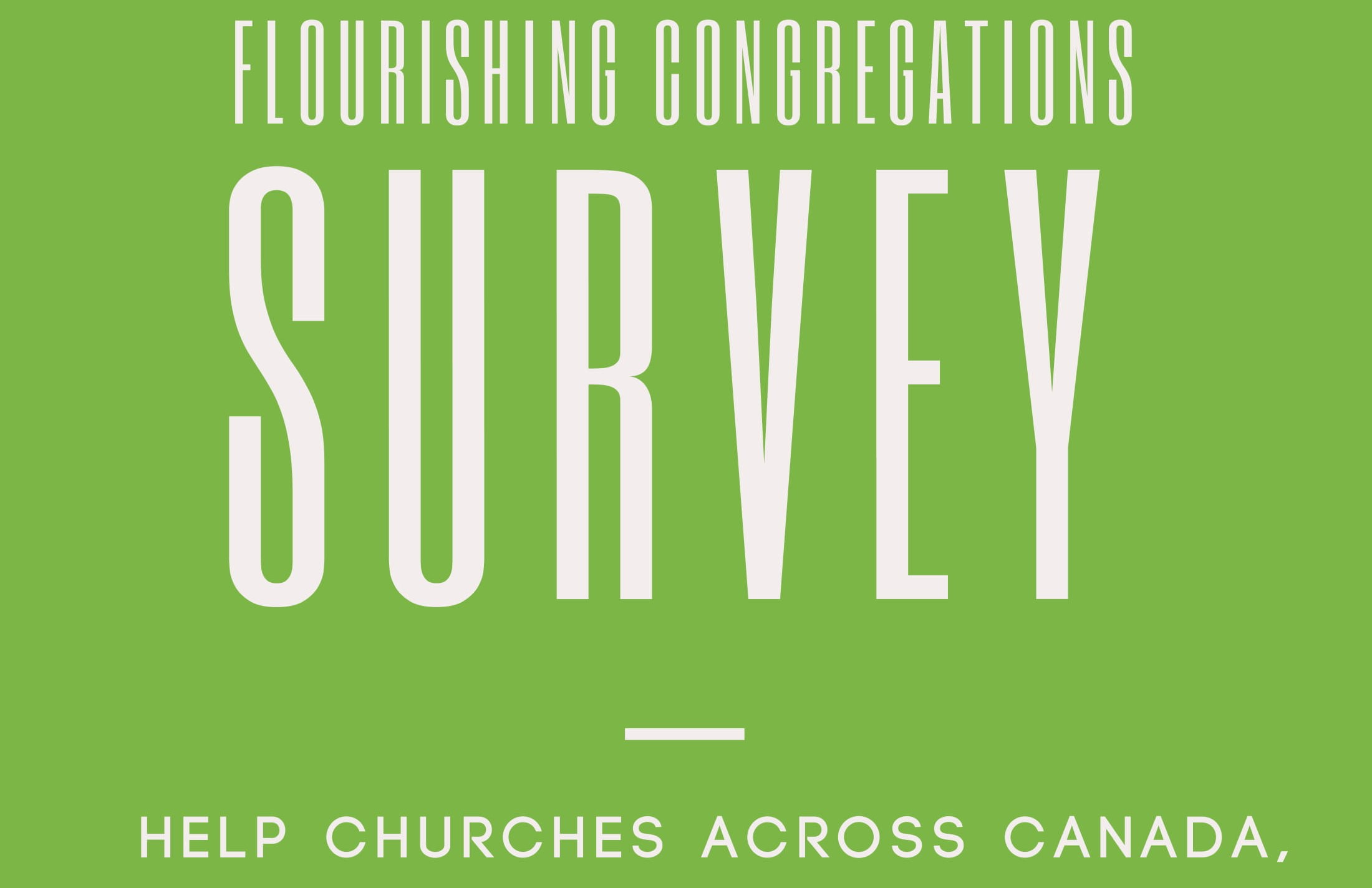 Be Part Of This National Church Survey