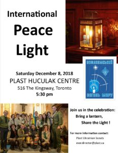 Peacelight to Plast Centre Dec 8-2018 -flyer