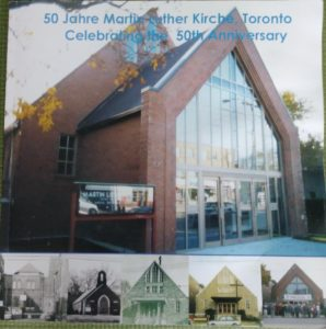 50 Jahre Martin Luther Kirche, Toronto: Celebrating the 50th Anniversary Editorial Committee, Martin Luther Evangelical Lutheran Church, printed by Quattro-Marketing, 2006. 128 pages. 1955 to 2005.