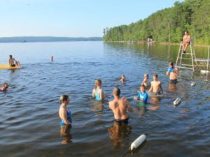 2018 Camp Lutherlyn -Campers enjoying a summer swim at Golden Lake, Ontario's Camp Lutherlyn. 2018.