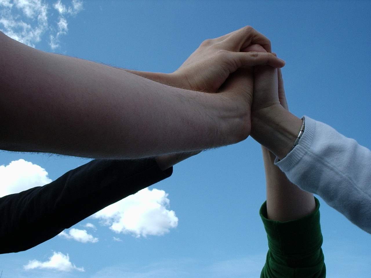 Four Hands Together Our Vicars