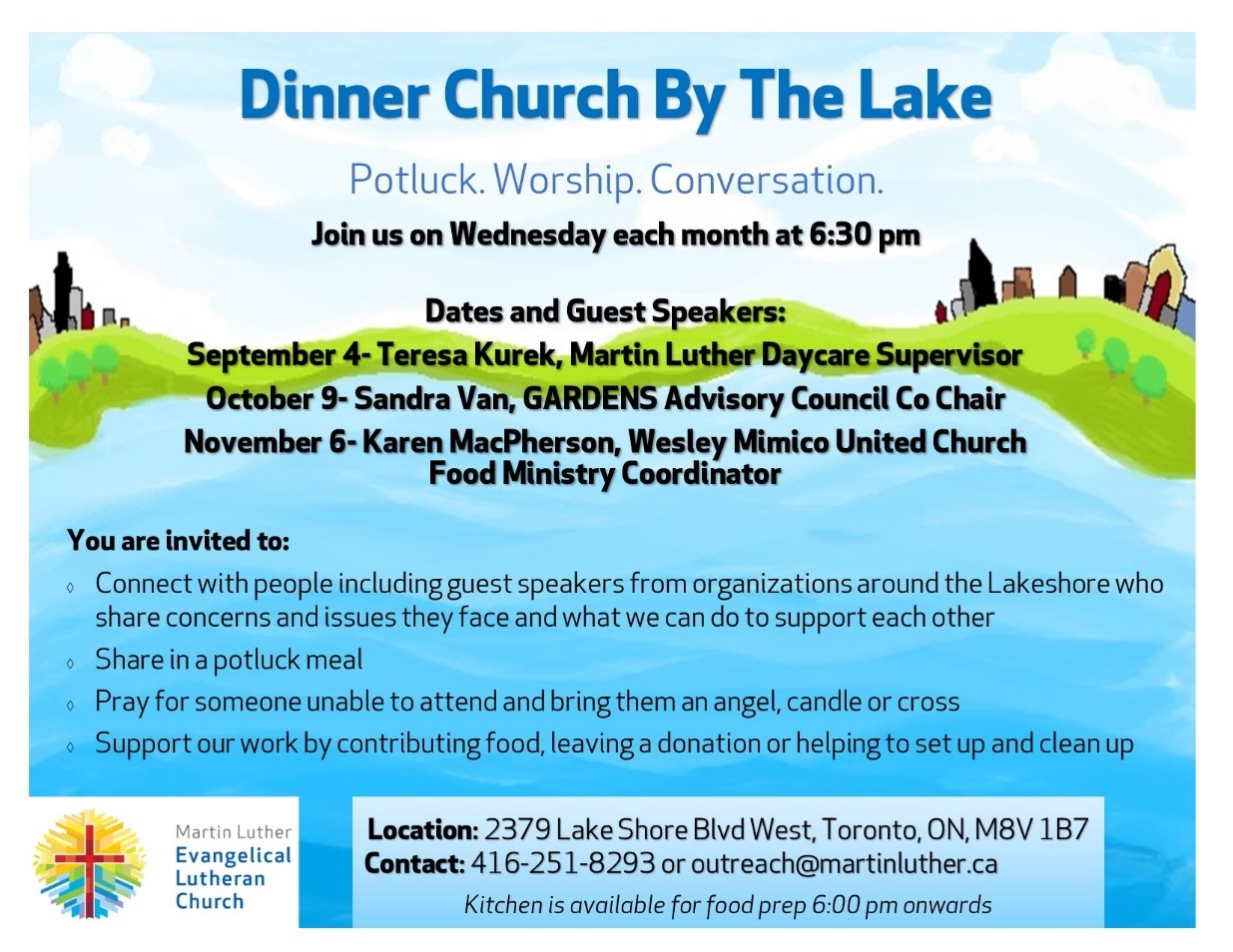 2019 Dinner Church Poster -Sep Oct Nov(Sep4-2019)