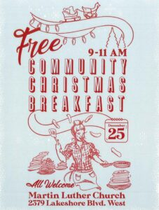 poster for 2019 Christmas Day Breakfast