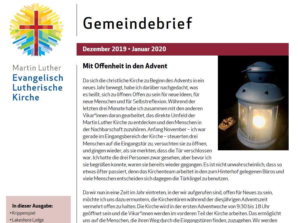 2019 Dez 2019= Jan 2020 Gemeindebrief