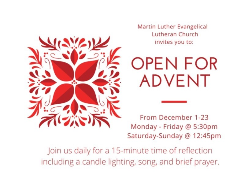 2019 Open For Advent Poster