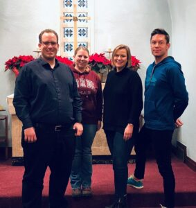 Four vicars: Jordan Smith, Silke Fahl, Caroline Raddatz, Adam McComb