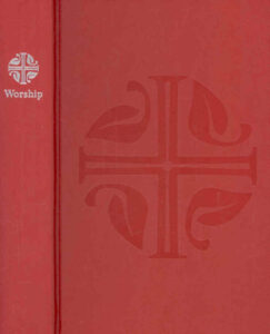 Evangelical Lutheran Worship (ELW) red song book cover