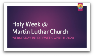 Holy Wednesday Scripture(Apr8-2020)