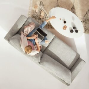 Virtual Coffee Shop Talk -photo of sitting on a couch from above