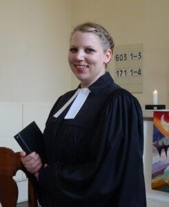 Vicar Silke Fahl in 2020