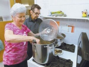 Wesley Mimico United Church Food Bank in action
