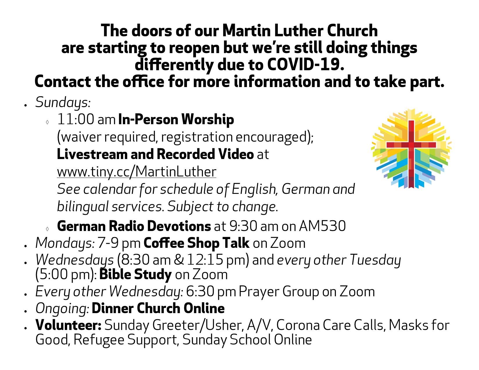 Church Announcements during COVID-19
