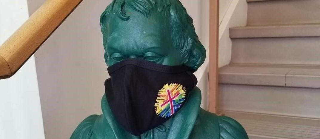 2020 Martin Luther Statue with mask