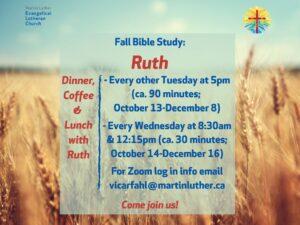 Bible Study poster image Fall 2020