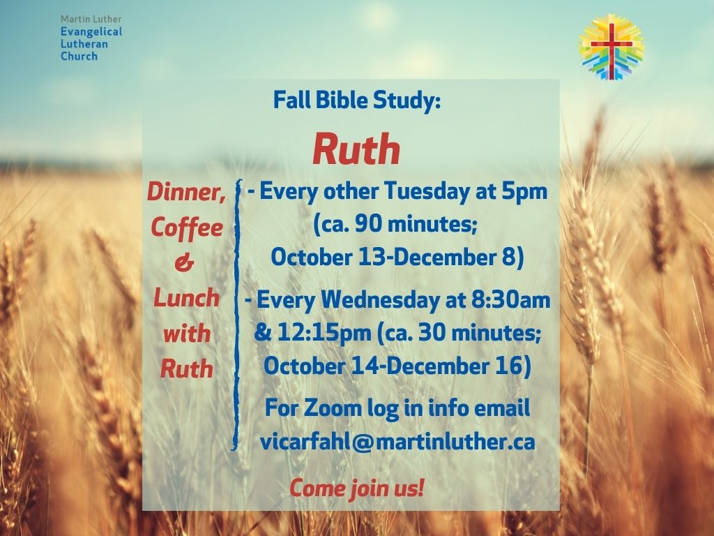 Bible Study With Ruth Poster Image Fall 2020