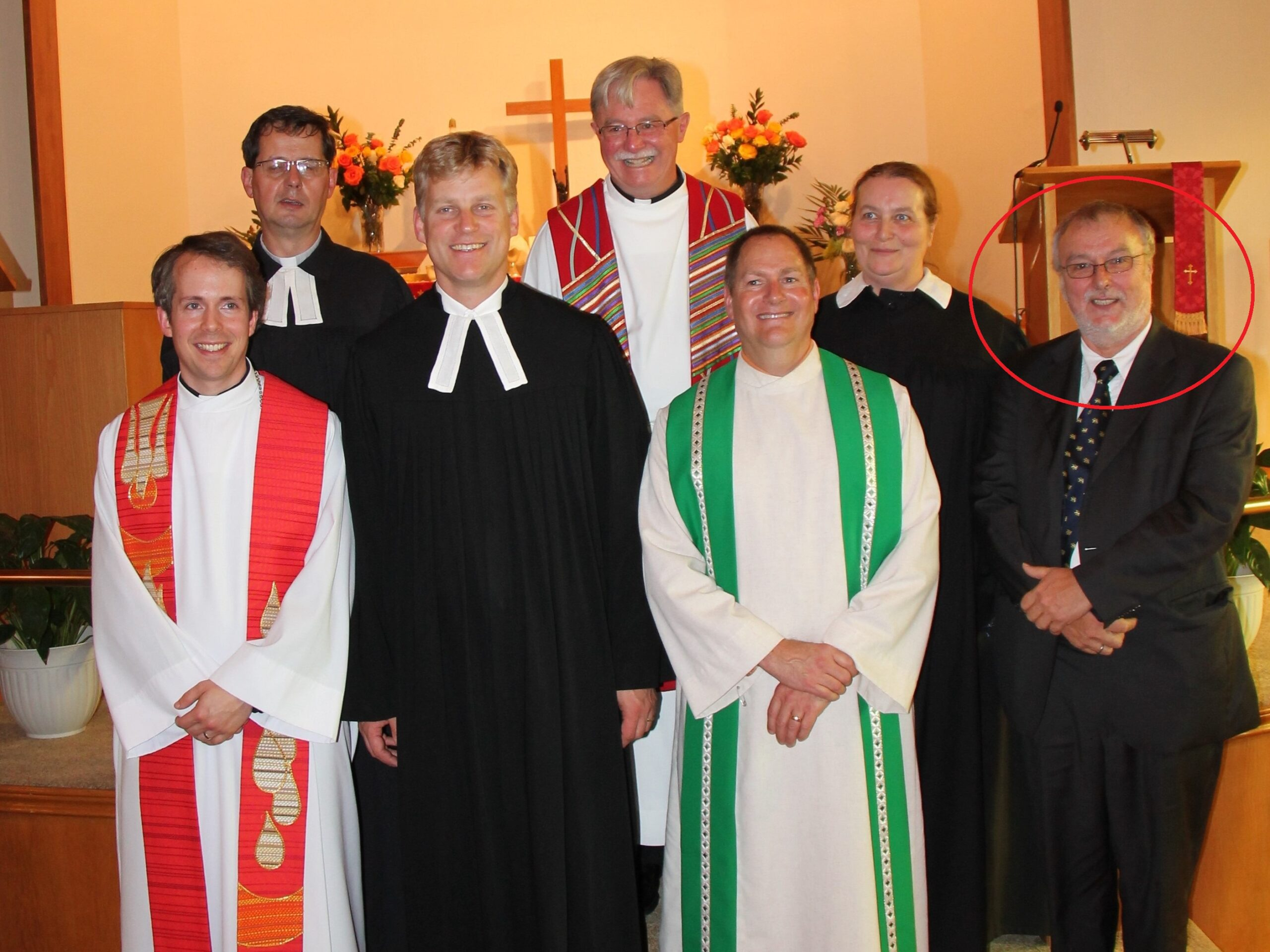 2013 Pastor Gerhard Hille at Installation Service Ceconi Sep22